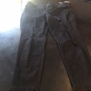 NWT Black 12 P / Old Navy Rockstar Crop Pant 💥